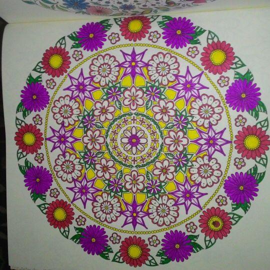 Mandala Circle Secret Garden Circulo Jardim Secreto Johanna Basford