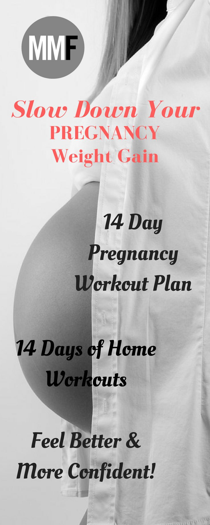 Slow Pregnancy Weight Gain with this 14 Day Pregnancy Workout Plan.