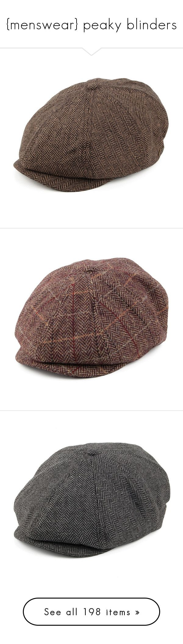 """""""{menswear} peaky blinders"""" by beyondthesea ❤ liked on Polyvore featuring accessories, hats, brown hat, khaki cap, brown newsboy hat, brixton hats, brown newsboy cap, newsboy cap, news boy cap and news boy hats"""