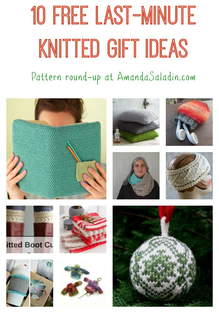 Free Knitting Pattern Gift Ideas : 10 Free Last Minute Knit Gift Ideas Knit gifts, Gift and ...