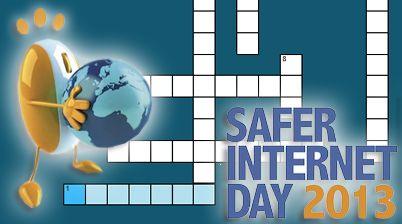 Karrewiet: kruiswoordraadsel Safer Internet Day