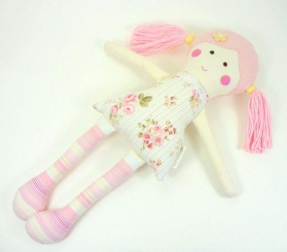 Mini Rag Doll EcoFriendly Fabric Cloth Doll 12 by CleoAndPoppy