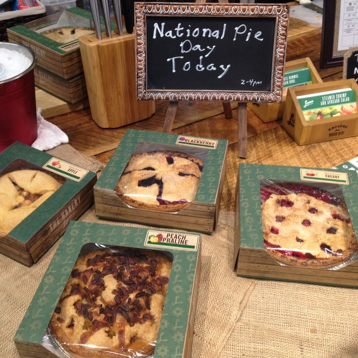 National Pie Day with Lowes Foods Bakery Pies