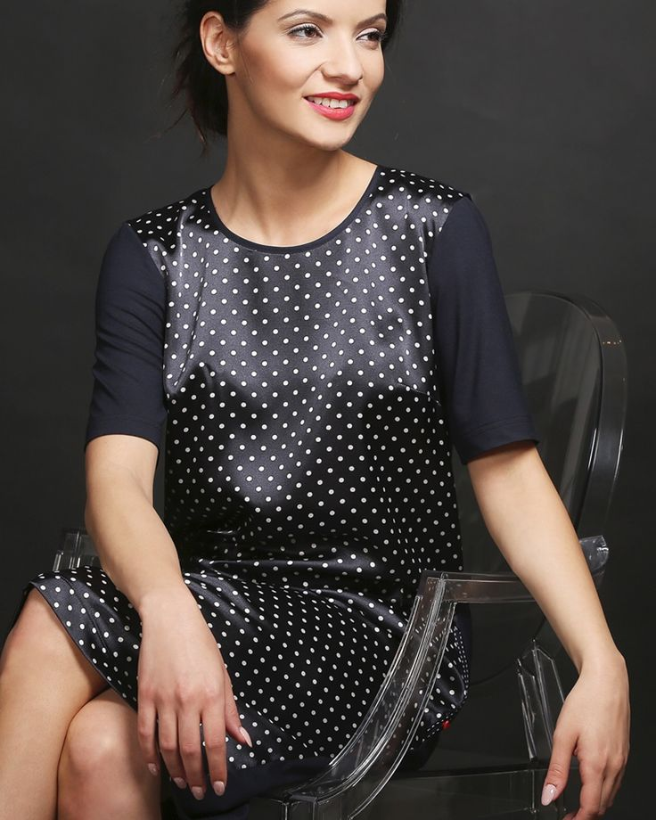 Casual sweet dots dress YOKKO | ss16  #dots #dress #satin #casual #look #fashion #yokko