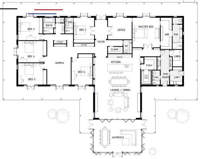 Floor Plan Friday 6 Bedrooms Barndominiumideasfloorplans If You Re After A Big Home With 6 Bedrooms I Fo Plans De Maison De Reve Plan Au Sol Plan Maison