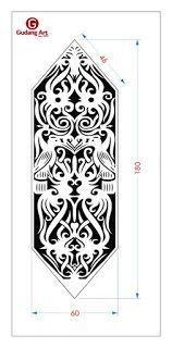 Talawang - Motif Perisai Suku Dayak Pengrajin Tembaga, Kuningan, Aluminium Cor Dan Kaca Patri 1999