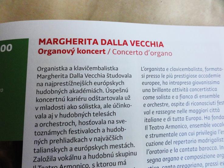 Preto Sans for the Italian Institute monthly programme /// www.kuskus.sk