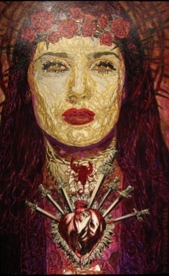 Salma Purple Madonna by George Yepes