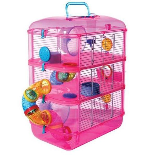 cages for hamsters | Fantazia 3 Hamster Cage – Next Day Delivery Fantazia 3 Hamster Cage: Hampster Cage, Hamster Things, Pink Hamster, Hamsters, Hamster Stuff, Hamster Houses, Dwarf Hamster, Hamster Cages