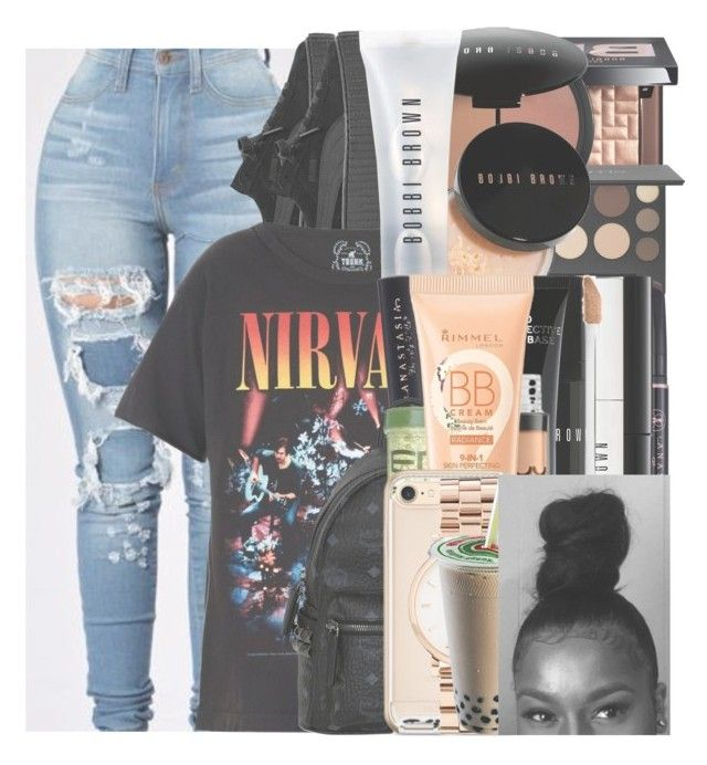 """Untitled #173"" by w-on-der-lan-d ❤ liked on Polyvore featuring Bobbi Brown Cosmetics, Smashbox, Puma, Anastasia Beverly Hills, Urban Decay, Trunk LTD, MCM, NYX, Rimmel and Marc by Marc Jacobs"