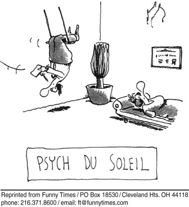 If only real psychologists would do tricks like this in real life, would I actually visit them.  But then I would probably laugh hysterically, and be committed to an insane asylum.