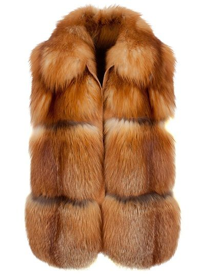 versatile unisex red fox fur vest