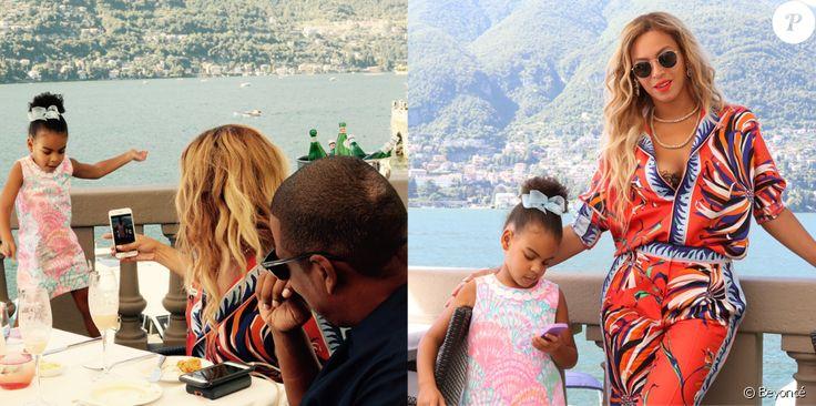 Photo de Beyoncé, Jay Z et leur fille Blue Ivy en Italie. Juillet 2016.