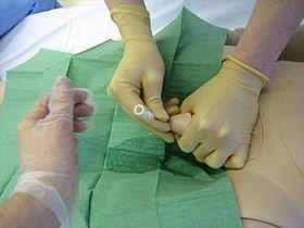 Urinary catheterization with a doll.jpg