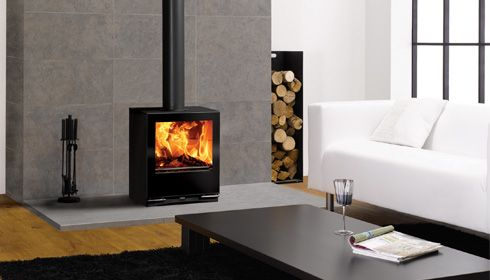 images of rooms with modern wood stoves | Woodburning in a modern setting…