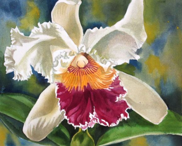 """A painting a day #5 """"Ruffled beauty"""""""