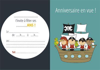 carton invitation bateau pirate-miniature