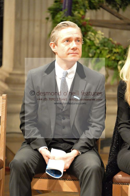 "blackstarjp: "" Martin Freeman at a glittering St Paul's Cathedral carol concert to celebrate Childline's 30th anniversary hosted by the NSPCC in the presence of HRH The Countess of Wessex., London..."