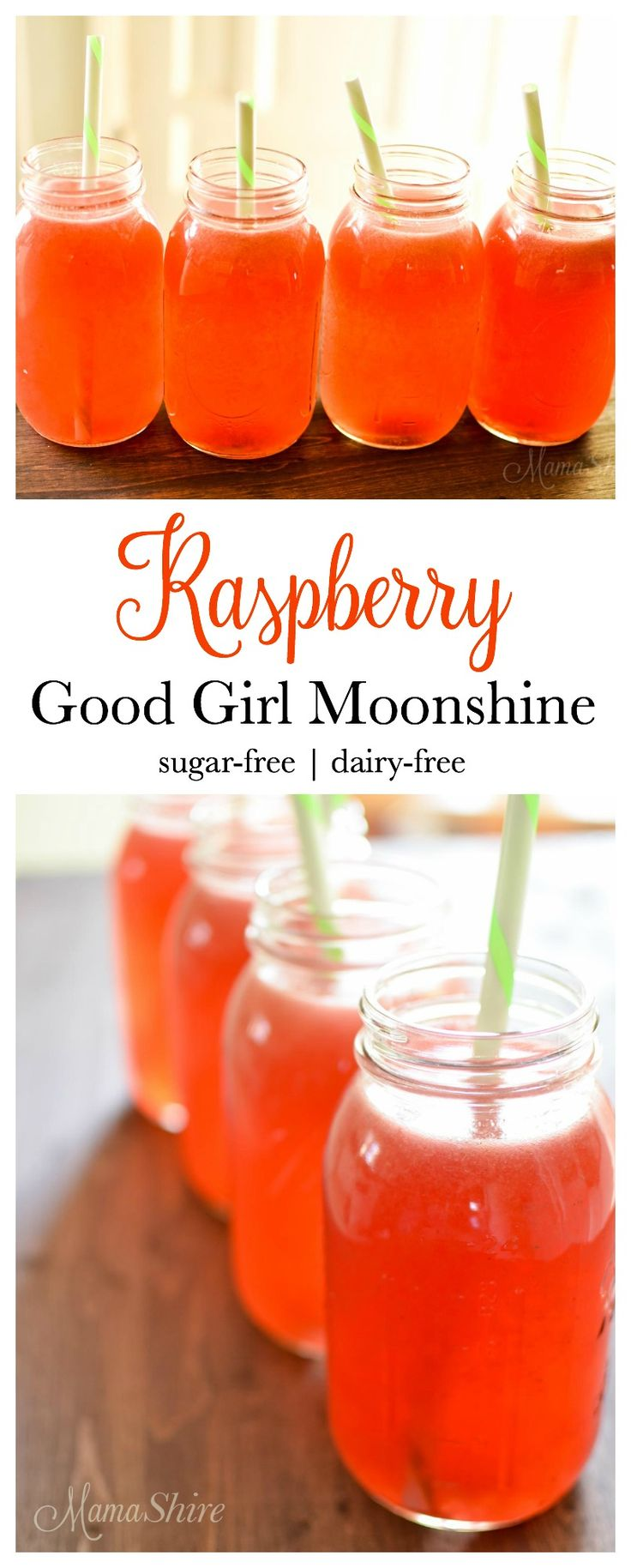 Raspberry Good Girl Moonshine. Our family's favorite drink with good for you ingredients. THM Sipper Drink.