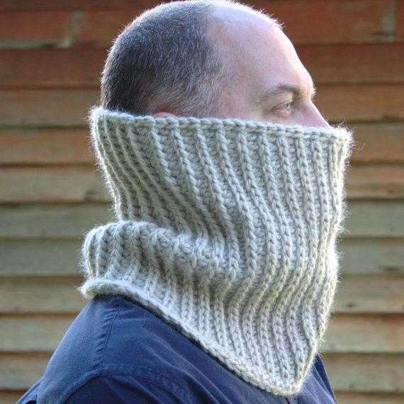 Mens Crochet Cowl Pattern Crochet Mens Neck by HiddenMeadowCrochet                                                                                                                                                                                 More