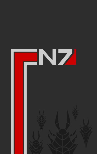 Mass Effect poster... whenever I see anything Mass Effect, I just think of Jordan and his N7 hat -Will