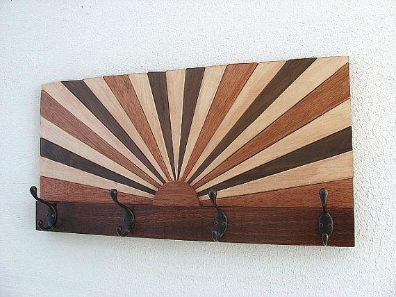 Wood Coat Rack  Hat Rack  Towel Rack by ModernRusticArt on Etsy, $180.00