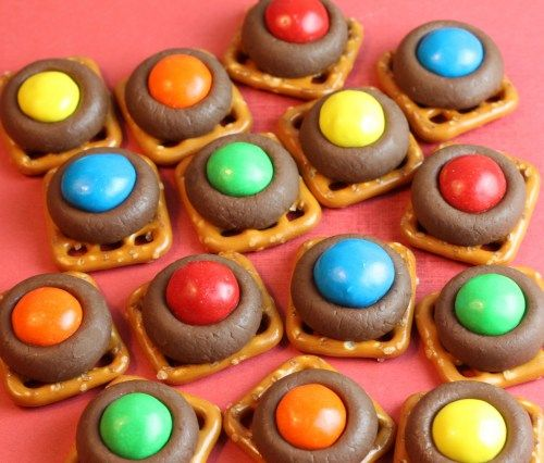 Chocolate Buttons - pretzel recipes curated by SavingStar Grocery Coupons. Save money on your groceries at SavingStar.com