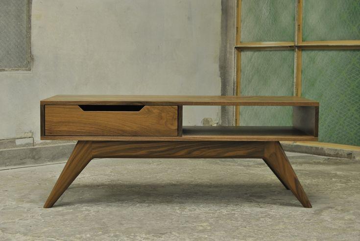 Mid-Century Inspired Walnut Coffee Table