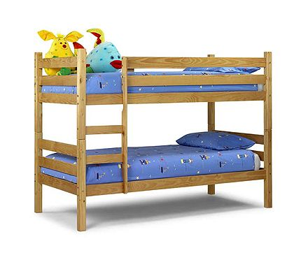 Julian Bowen Wyoming Solid Pine Bunk Bed Finish: Solid pine with antique lacquered finish Sizes: W96.5cm x D203cm x H150cm http://www.comparestoreprices.co.uk/bunk-beds/julian-bowen-wyoming-solid-pine-bunk-bed.asp