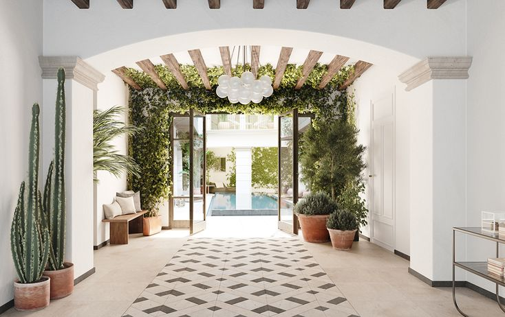 Scandinavian meets Spanish in this stunning urban residence in Palma, Mallorca. Spain based architecture firmAVW Arquitecturaand Stockholm based interior designersWhyte Liljacollaborated onImpremta Garden, an apartment complex housed in a 400 year old building. 12 flawless units were
