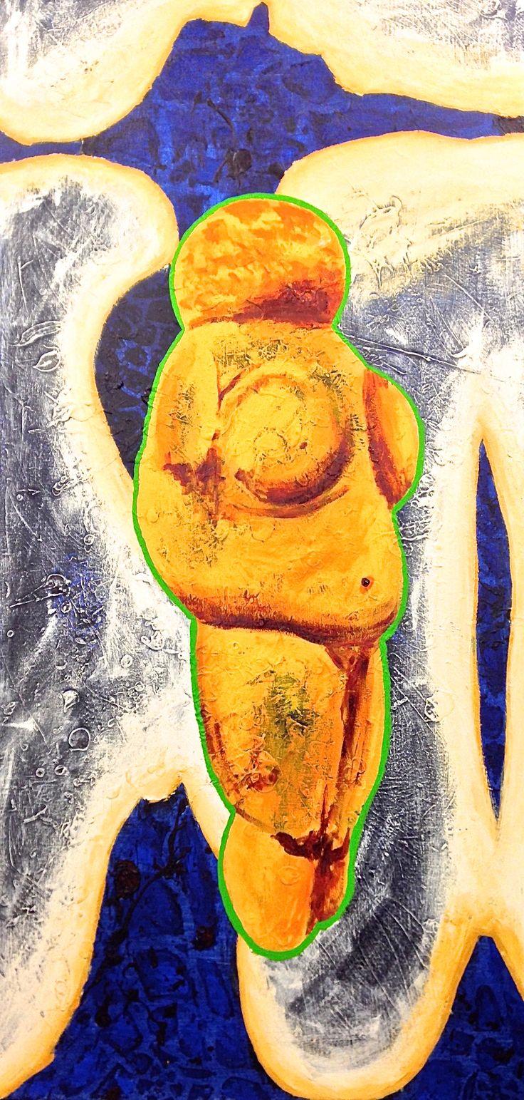 Olicorno, artiste LSDM Éros - Vénus entre Ciel et Terre 30 x 60   // 775 $  http://lasalledemontre.com/olicorno/eros-vnus-entre-ciel-et-terre
