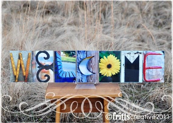 DIY? Alphabet Photography WELCOME Photo Letter Word by FrittsCreative, $52.50