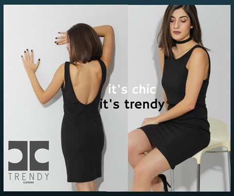 All time trendy and classy black dress!!  Chic and trendy!! Μαύρο φόρεμα σε στενή γραμμή!!! #trendyfashion #trendywoman #trendystayle #happyandtrendy
