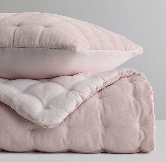 Box-Tufted Velvet Quilt