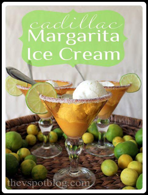 An easy (no churn) recipe for Cadillac Margarita Ice Cream - perfect for Cinco de Mayo!