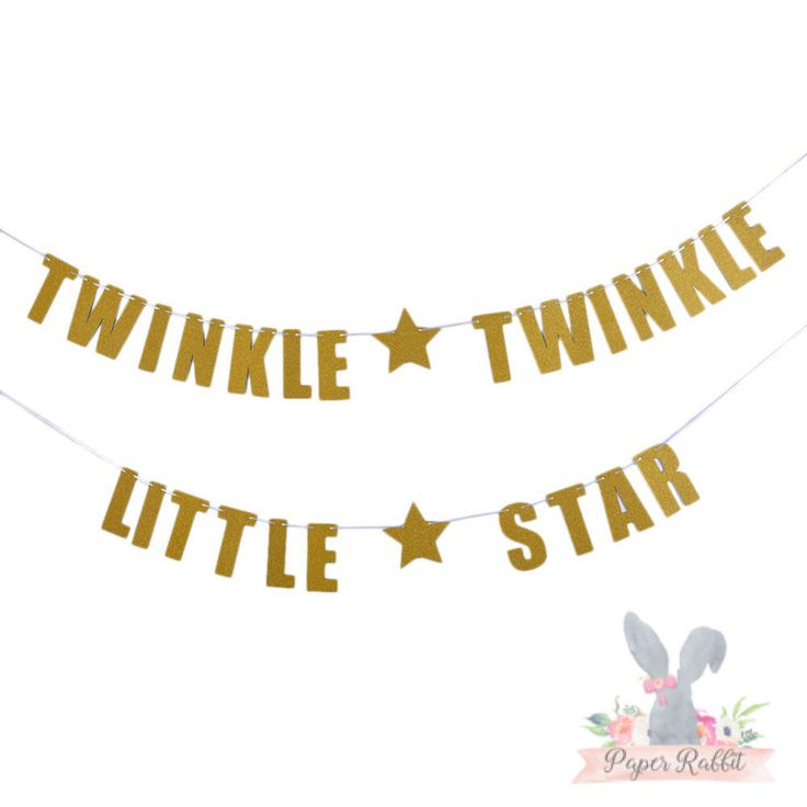 Twinkle Twinkle Little Star Banner. READY TO SHIP! Baby Shower Decor By Paper Rabbit by PaperRabbit87 on Etsy