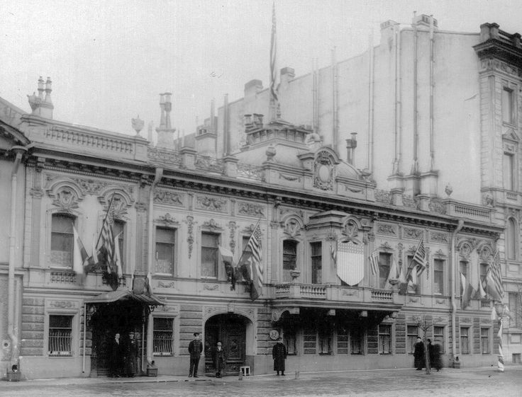The US embassy in Saint-Petersburg,Imperial Russia  before the Revolution in 1911.    🌹