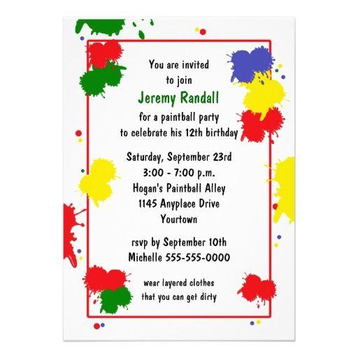 128 best paintball nerf war birthday ideas images on pinterest, Birthday invitations