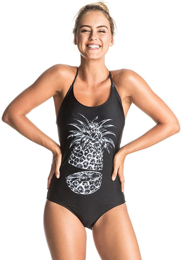 #Roxy Summer Pacific Badeanzug für Damen in Schwarz#Frauenmode #Fashion #Bekleidung #Mode #Damen #Bademode