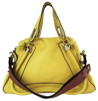 Chloé Leather Shoudler Satchel in  Sun Yellow - $1900