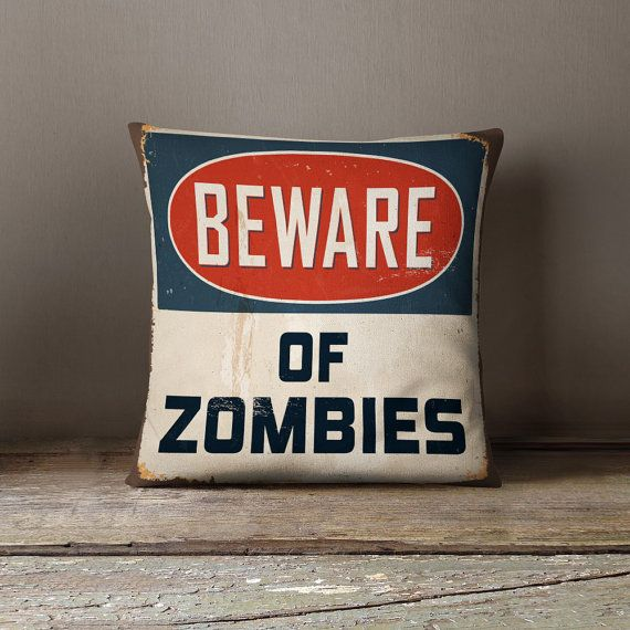 Zombie Pillow | Zombie Bedding | Walking Dead Bedding | Industrial Decor | Teen Gift | Christmas Gift | Cool Mens Gift