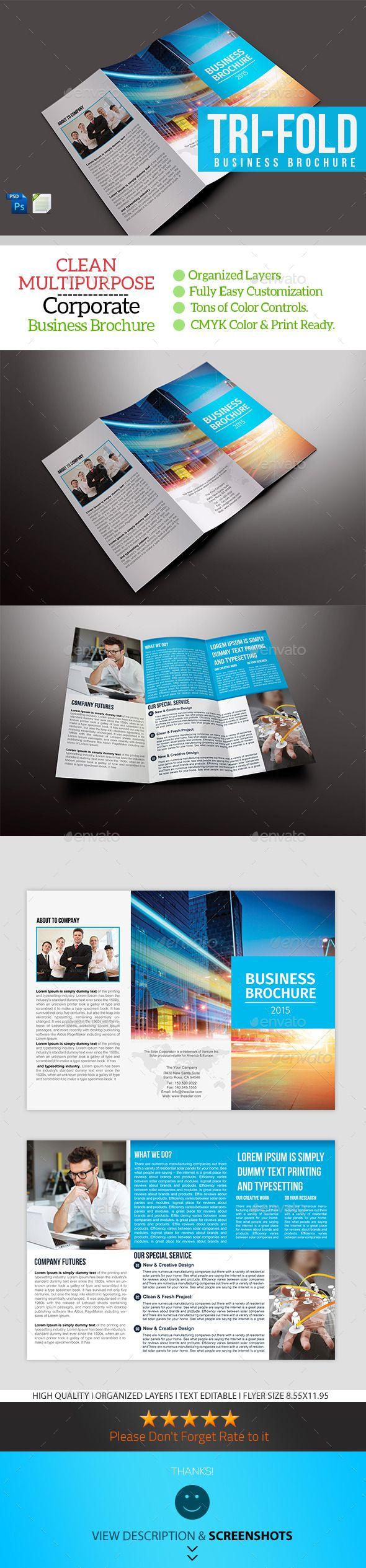 Best Trifold Brochure Template PSD Images On Pinterest - Informational brochure template