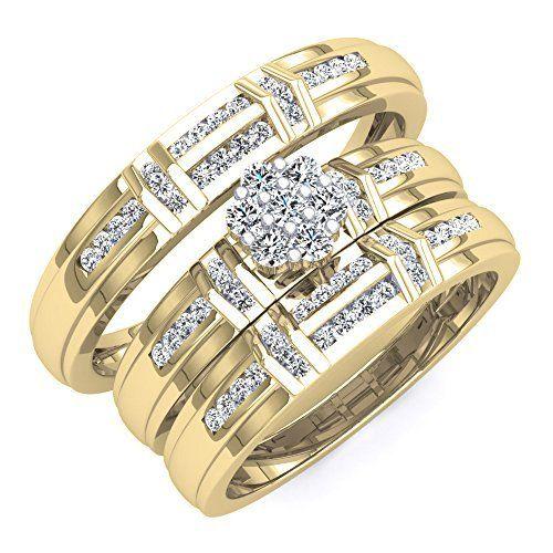 96 best Spectacular Trio Wedding Ring Sets images on Pinterest