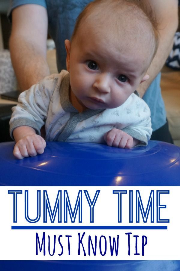 Tummy Time Must Know Tip, I love the idea of using an exercise ball for tummy time. I like the idea of gentle rocking and being able to adjust the angle while in tummy time! - Pink Oatmeal