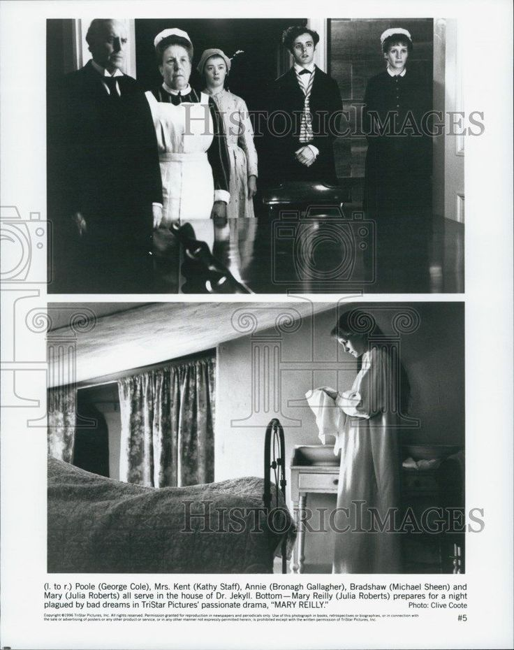 "1996 Press Photo ""Mary Reilly"" Michael Sheen Julia Roberts Bronagh Gallagher"