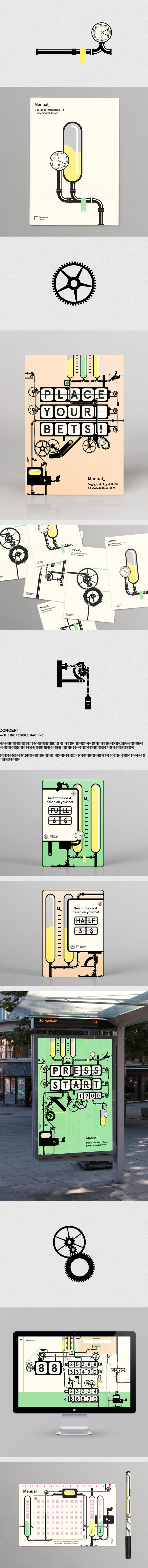 Ludvig Bruneau Rossow – Manual, a conceptual solution developed for an fictitious lottery in Norway, via Behance