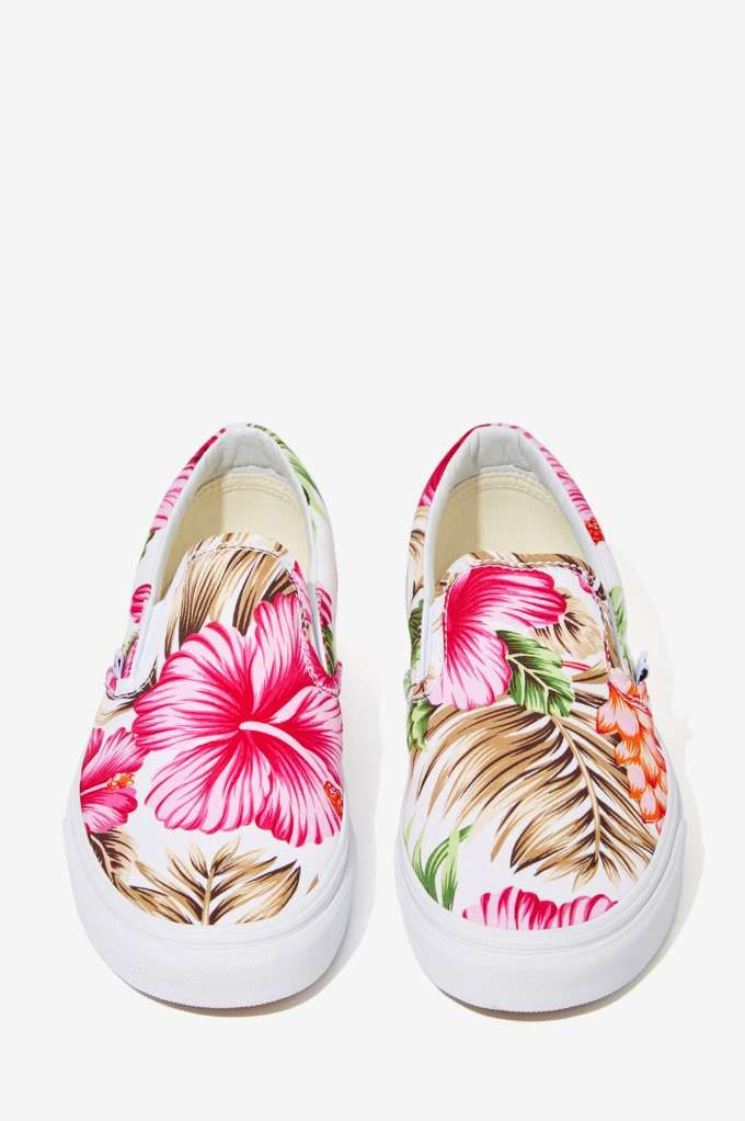 b1a707fd3a Vans Classic Slip-On Sneaker - Hawaiian Floral - Shoes