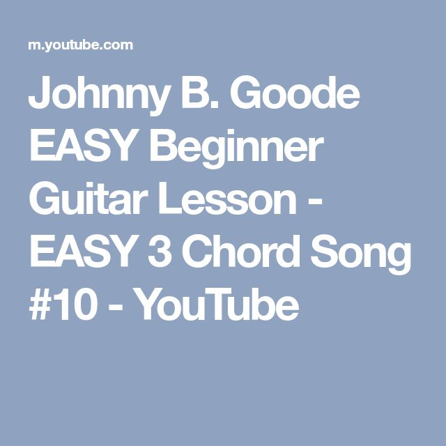 how to play johnny b goode on guitar chords