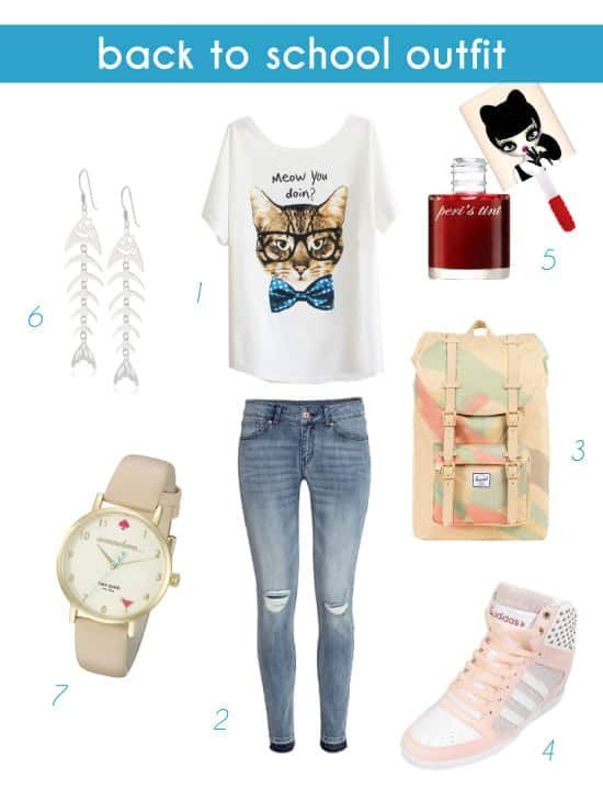 ffb01a2d4b50 2018 Back to School Outfit for Teen Girls