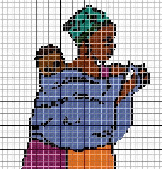 Sur le thème de l'Afrique que ma demandé Françoise, voici une grille d'une femme africaine et son bébé : En voici une autre :